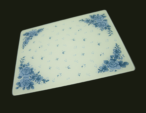 15 x 12 corelle blue velvet tempered glass cutting board - Decorative tempered glass cutting boards ...