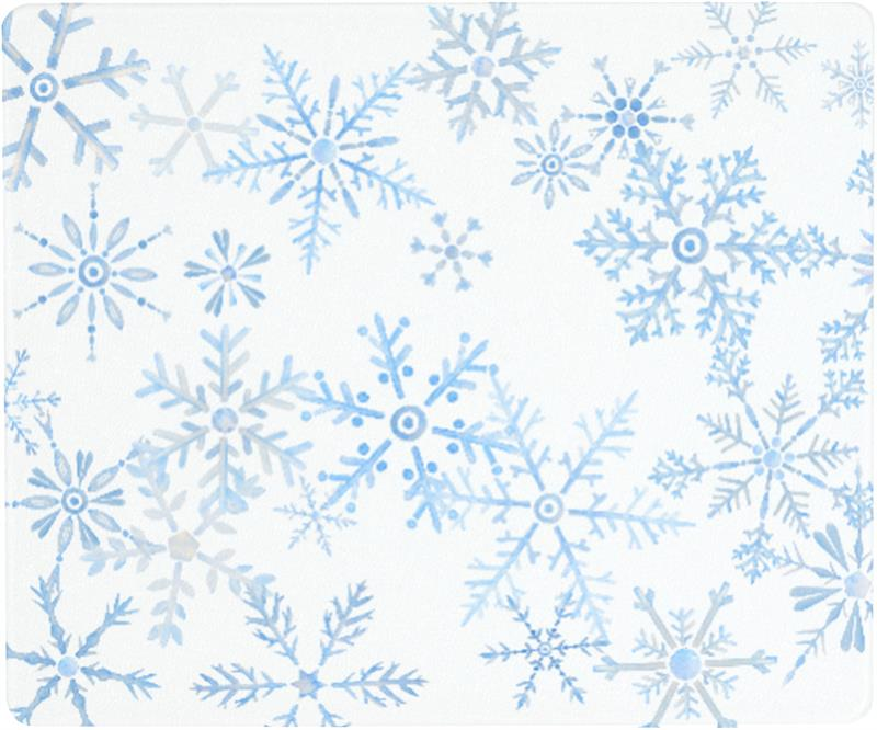 12 X 10 Snowflake Surface Saver Tempered Glass Cutting Board