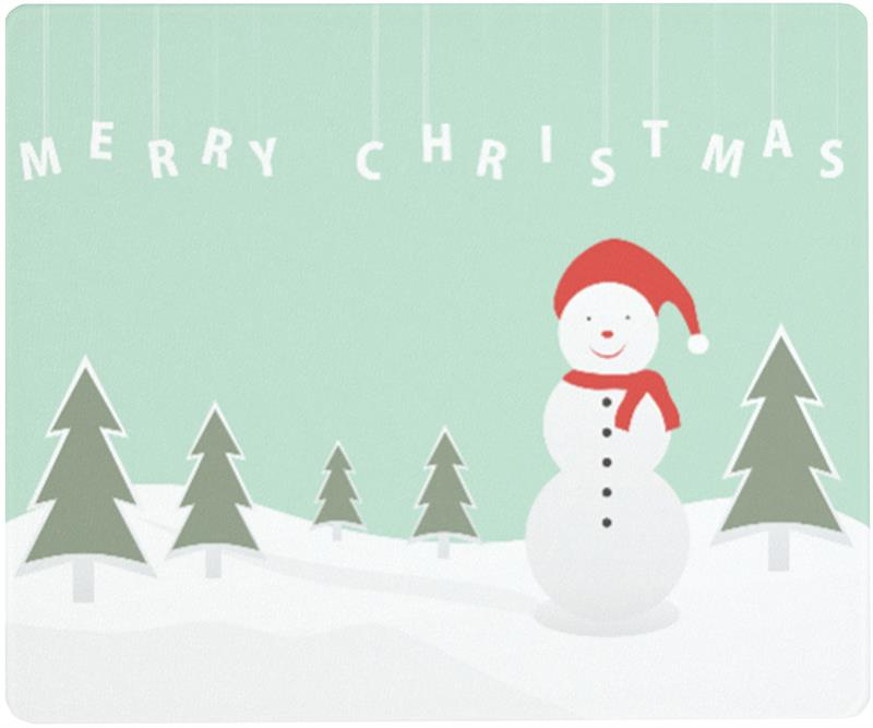 12 X 10 Christmas Snowman Surface Saver Tempered Glass Cutting Board