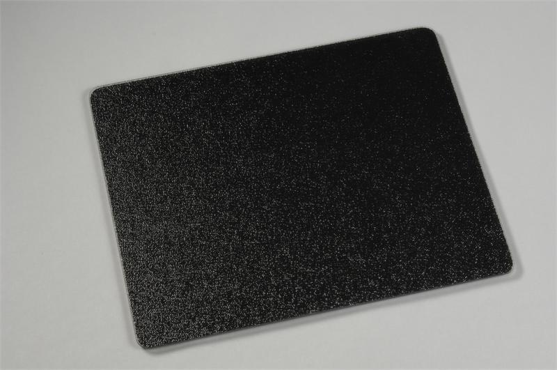 x  black surface saver tempered glass cutting board,