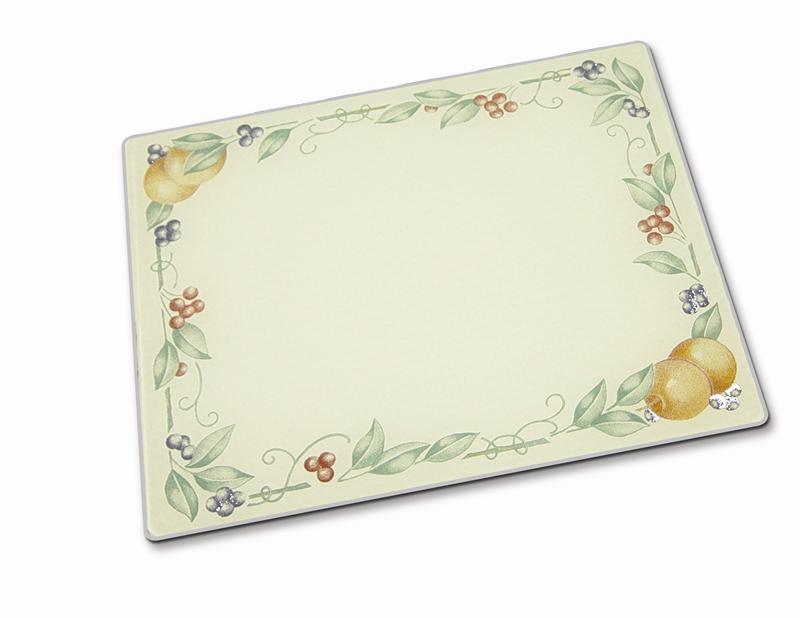 20 x 16 corelle abundance tempered glass cutting board - Decorative tempered glass cutting boards ...