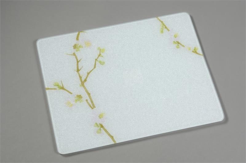 15 x 12 corelle cherry blossom tempered glass cutting board - Decorative tempered glass cutting boards ...