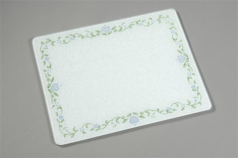 15 x 12 corelle country cottage tempered glass cutting board - Decorative tempered glass cutting boards ...