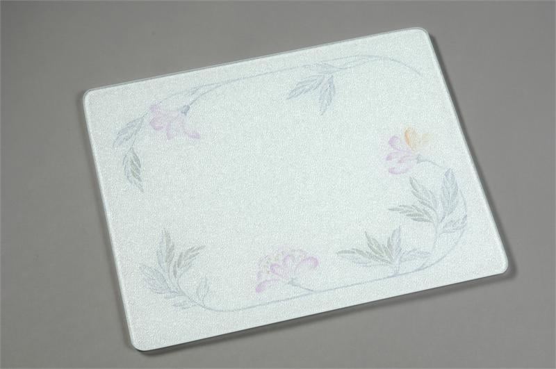 15 x 12 corelle pink trio tempered glass cutting board - Decorative tempered glass cutting boards ...