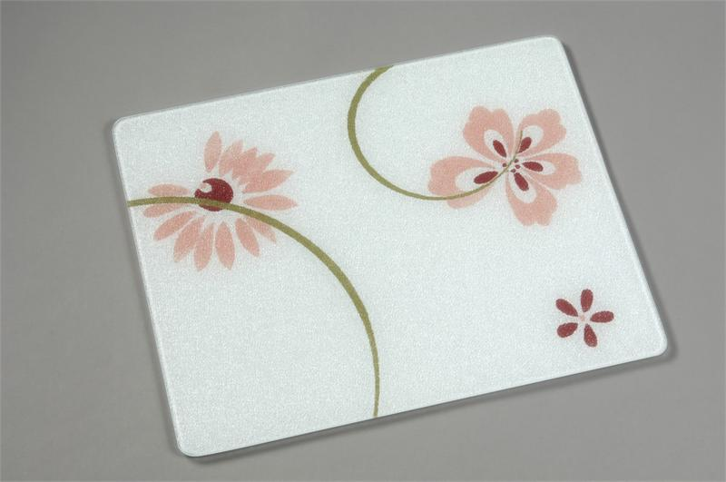 20 x 16 corelle pretty pink tempered glass cutting board - Decorative tempered glass cutting boards ...