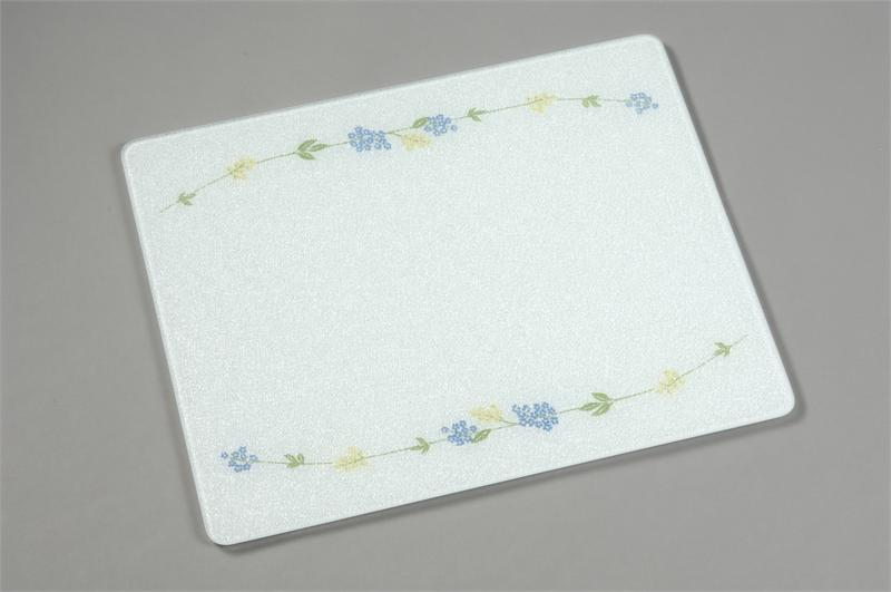 15 X 12 Corelle Secret Garden Tempered Glass Cutting Board