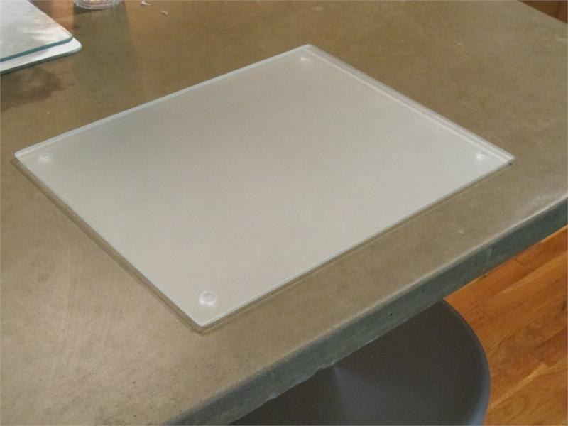 15X12 Clear Elite Tempered Glass Cutting Board